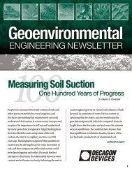 Measuring Soil Suction - Decagon Devices, Inc.