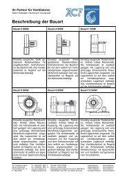 Beschreibung der Bauart - ACF Ventilatoren GmbH