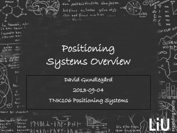 Positioning Systems Overview