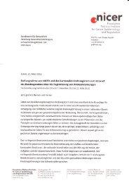 Stellungnahme zum Entwurf Bundesgesetz - Krebsregister der ...