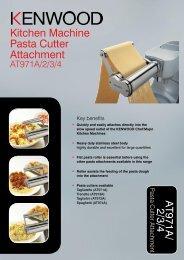 Kitchen Machine Pasta Cutter Attachment