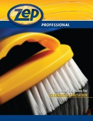 Superior Solutions for CLEANING & SANITATION - Zep Professional