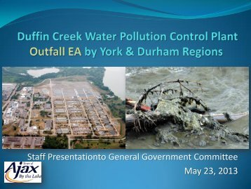 Duffin Creek WWTP Expansion - Town of Ajax