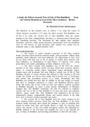 A Study the Effects towards Way of Life of Thai Buddhists from the ...