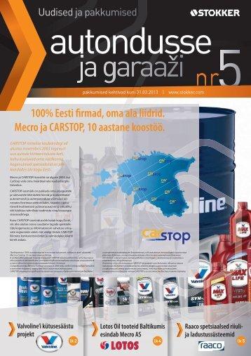 100% Eesti firmad, oma ala liidrid. Mecro ja CARSTOP, 10 aastane ...