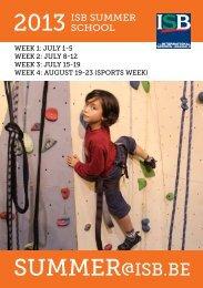 The Summer School Programme 2013 (PDF) - International School ...