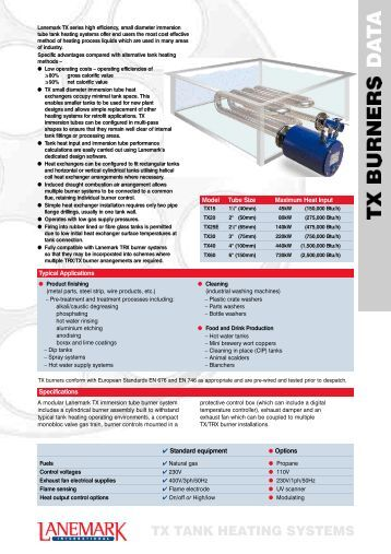 TX TANK HEATING SYSTEMS