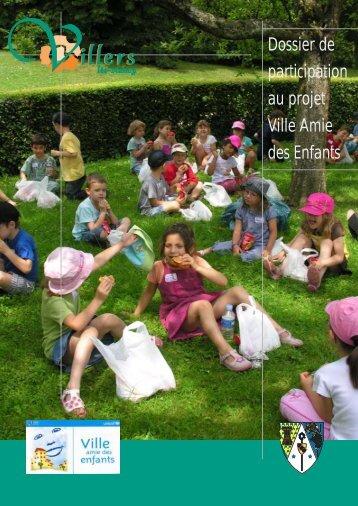 Dossier de participation au projet Ville Amie des Enfants