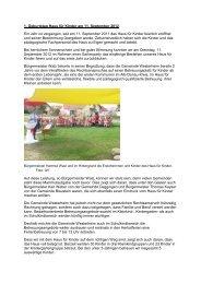 1. Geburtstag Haus für Kinder am 11. September ... - in Westerheim