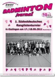 10/2011 - Baden - Württembergischer  Badminton - Verband