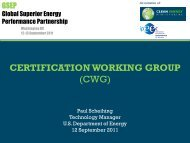 Certification Working Group Overview - Clean Energy Ministerial
