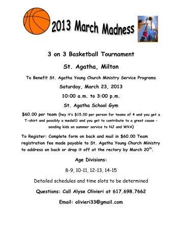 Team registration 3 on 3 basketball tournament st agatha milton st agatha parish pronofoot35fo Gallery