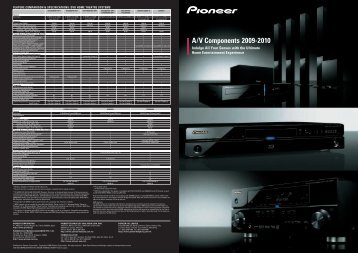 feature comparison & specifications: dvd home ... - Pioneer UAE