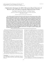 Optimization Strategies for DNA Microarray-Based Detection of ...