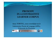 PROSODY IN A CONTRASTIVE LEARNER CORPUS Anne ...