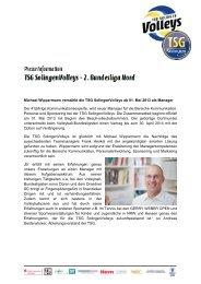 Michael Wippermann verstärkt die TSG SolingenVolleys ab 01. Mai ...