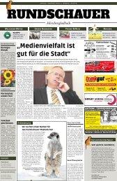 """""""Medienvielfalt ist gut für die Stadt"""" - Rundschauer"""