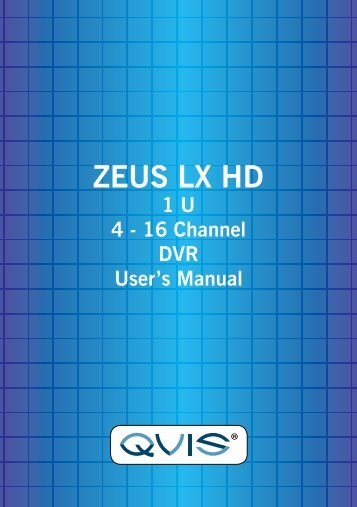 LX Zeus HD Manual - Qvis Security