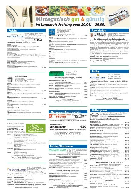 Freisinger Mittagstisch (Page 1) - merkur-online