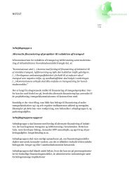 Kommissorier for arbejdsgruppe 2 - Transportministeriet