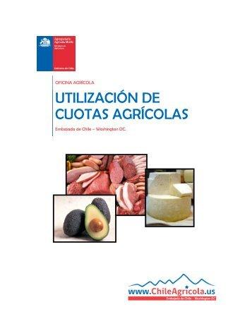 Utilización de cuotas agrícolas. - Odepa