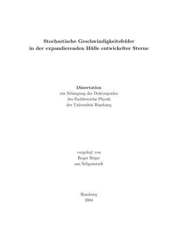 Volltext - Fachbereich Physik - Universität Hamburg
