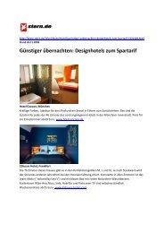 Günstiger übernachten: Designhotels zum Spartarif - 25hours Hotels