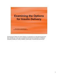 Examining the Options for Insulin Delivery - CECity