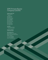 IdfC private Equity Company Limited
