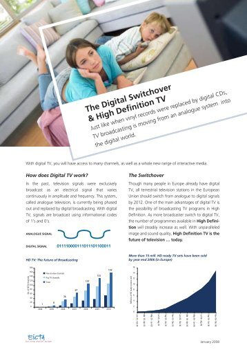 The Digital Switchover & High Definition TV - DigitalEurope