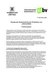 Presseerklärung des Bundesverband ... - Save Our Seeds