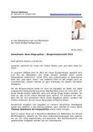 An alle Mitarbeiterinnen und Mitarbeiter der Stadt ... - zgtonline.de