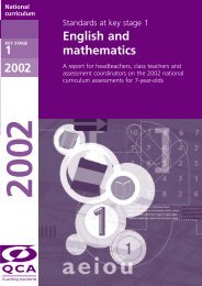 Standards at key stage 1 in English and mathematics - PGCE