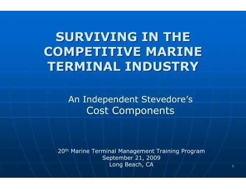 surviving in the competitive marine terminal industry - staging.files ...