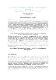 Las Fuentes de Información en Internet para la Educación a Distancia
