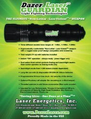 Dazer Laser GUARDIAN Features and Spec Sheet - Laser Energetics