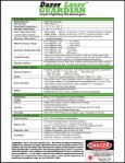Dazer Laser GUARDIAN Features and Spec Sheet - Laser Energetics - Page 2