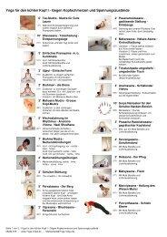 Übungsplan - Yoga für den kühlen Kopf I - Yoga Vidya
