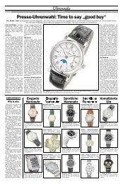 "Presse-Uhrenwahl: Time to say ""good buy"" - Viennatime"