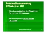 Personalräteversammlung - Staatliches Schulamt Südthüringen