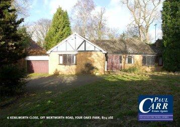Sales details - Paul Carr Estate Agents