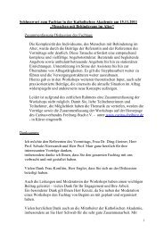 Schlusswort - Caritasverband Freiburg