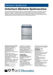Untertisch-Bäckerei-Spülmaschine - Electrolux
