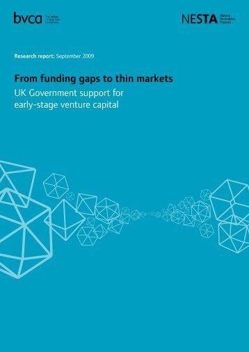 From funding gaps to thin markets - BVCA admin - British Venture ...