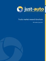 Trucks market research brochure - Just-Auto.com