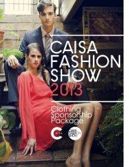 CLOTHING SPONSORSHIP 2013 - CAISA Fashion Show