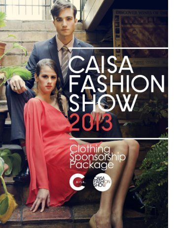 CLOTHING SPONSORSHIP 2013 - CAISA Fashion Show