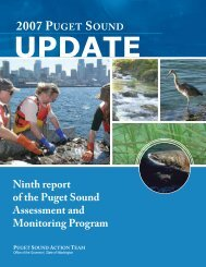 2007 Puget Sound Update (PDF) - 56mb - Puget Sound Partnership
