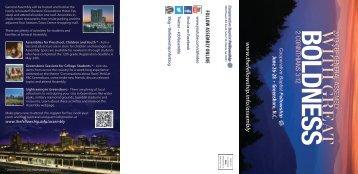 Tri-fold brochure - Cooperative Baptist Fellowship