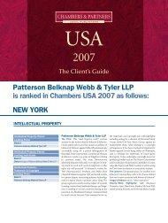 Patterson Belknap 2pp_IP - Patterson Belknap Webb & Tyler LLP